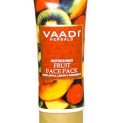 Refreshing Fruit Face Pack With Apple, Lemon & Cucumber - Herbal Face Pack - All Natural - Paraben Free - Sulfate Free - Suitable For Both Men And Women - Good For All Skin Types (Oily, Glowing, Dry, Normal, Combination, Sensitive) - 120Gms (4.25 Ounces)