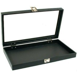 Glass Top Jewelry Pocket Watch Display Travel Case Box