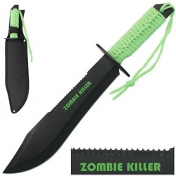 15 In Zombie Killer Full Tang Bowie Knife