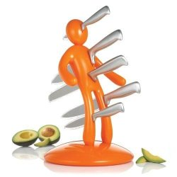 Raffaele Iannello The Ex Orange Kitchen Knife Set