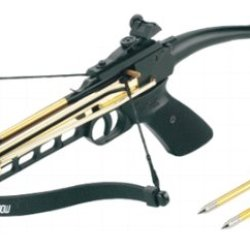 80 Lbs Self-Cocking Crossbow Pistol Cross Bow 15 Arrows