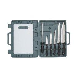 8 Piece Cutlery Set With Cutting Board