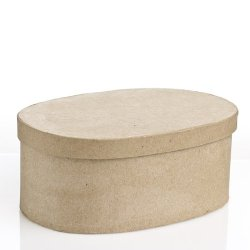 Oval Paper Mache Boxes With Lids - Package Of 4 Boxes