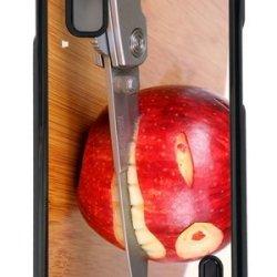 Google Nexus 4 Case,Mokshop Adorable Funny Apple Knife Hard Case Protective Shell Cell Phone Cover For Google Nexus 4 - Pc Black