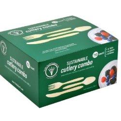 Trellis Earth Wfs-51 Bioplastic Forks/Knives/Spoons Combo Pack (6 Packs Of 150)