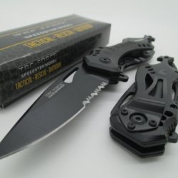 Tac-Force Assisted Opening Linerlock Belt Clip Black A/O Speed Rescue Knife