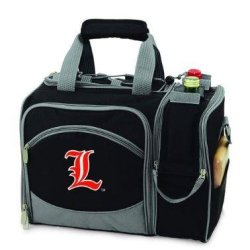 Louisville Cardinals Malibu Insulated Picnic Shoulder Pack/Bag - Burgundy W/Embroidery