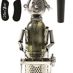 Fabulous Chef Grilling Hotdogs On A Barbecue Stand Wine Bottle Holder Plus A Wine Foil Cuter And A Wine Bottle Vacuum Stopper