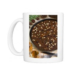 Photo Mug Of Castagnaccio, Pie Of Chestnut Flour With Raisins, Rosemary And Pine Nuts