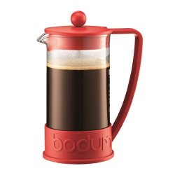 Bodum Brazil French Press 8 Cup Coffee Maker Cafetiere 1L / 34Oz Red