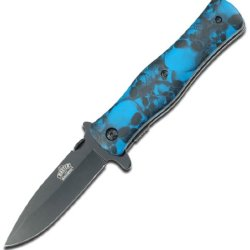 Master Usa Mu-A006Bl Folding Knife, 4.5-Inch Closed