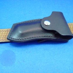 Custom Leather Right Cross Draw Pocket Knife Sheath For A Buck 110 Are Similar