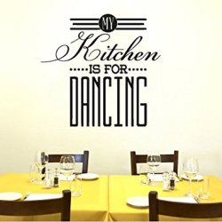 Wall Decal Vinyl Sticker Decals Art Decor Design Sign Words My Kitchen Is For Dancing Stuff Fork Spoon Knife Dining Room(R764)