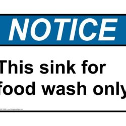 Compliancesigns Plastic Ansi Notice Sign, 10 X 7 In. With Food Prep / Kitchen Safety Info In English, White