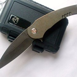 Medford Knife And Tool Viper Folder Knife Anodized Finish / Tumbled Oxide Blade