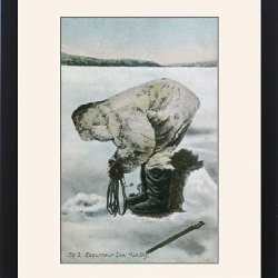 Framed Print Of Inuit Seal Hunting (2/5)