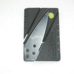 Iain Sinclair Cardsharp Credit Card Sized Safety Folding Knife With Black Blade