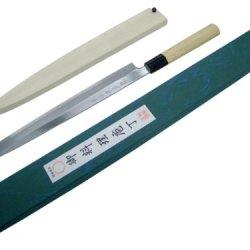 Sane-Tatsu: Yanagi-Ba Cooking Knives (Pro Japanese Yasugi Forged Steel)- White (330Mm)