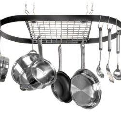 Kinetic Classicor Series Wrought-Iron Oval Pot Rack 12021