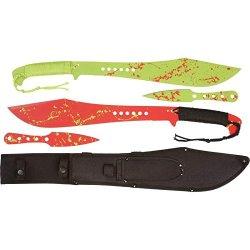 Rampant 5Pc Machete/Throwing Knife Set - Skmachzb4
