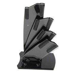 Black Acrylic Kitchen Block Knife Holder For 4 Knives