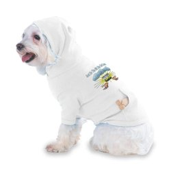 And On The 8Th Day God Created Pilates Hooded (Hoody) T-Shirt With Pocket For Your Dog Or Cat Xs White