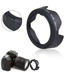 Aobi Hot Hb-45 Ii Bayonet Lens Hood For Nikon Af-S Dx Nikkor 18-55Mm F/3.5-5.6G Vr