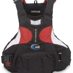 Mti Adventurewear Cascade Performance Paddling Sup Pfd Life Jacket (Black/Aluminum/Red, Small/Medium)
