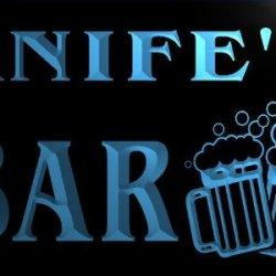 W075329-B Knife'S Name Home Bar Pub Beer Mugs Cheers Neon Light Sign