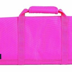 Messermeister 12-Pocket Padded Knife Roll, Pink