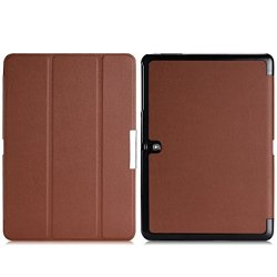 Wawo Samsung Galaxy Tab Pro 10.1 Inch Tablet Smart Cover Fold Case - Brown