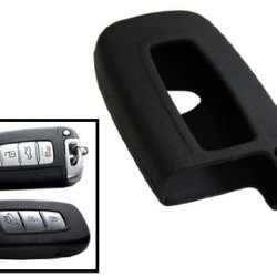 Ijdmtoy Soft Silicone Remote Smart Key Holder Fob For Hyundai Genesis Sedan Coupe Elantra Sonata Kia Forte Optima Soul Sorento