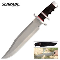 Schrade Scor Large Fixed Blade Corby, Green Handle