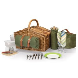 Picnic Time Somerset Willow Picnic Basket With Deluxe Service For Two