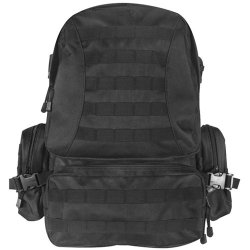 Loaded 72 Hour Bugout Bag For Survival Outdoors With A Fox Tactical Advanced Hydro Assault Pack (Black) With A 2.5 Liter Bladder, Insulated Tube And Bite Valve. Bag Also Includes: Adventure Medical Kits Sol Hybrid 3, Ontario Knife Company Okc Air Force Su