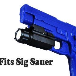 Lumentactical 250 Lumen Quick Release Pistol Led Flashlight /W Strobe For Sig Sauer P220,P226,P227, P229, P250, Sp2022, Mosquito Etc
