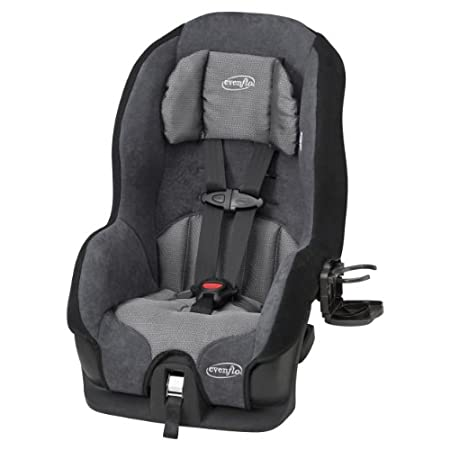 The Evenflo Tribute LX Convertible car seat combines safety, comfort and ease for the ultimate value in child restraints. Compact in size, the Tribute provides a great vehicle fit while providing side impact protection. With a plush head pillow and i...