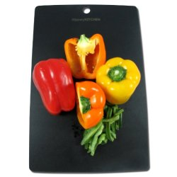 Black Kitchen Cutting Board, Wood Composite, Chefs Quality, Eco Friendly, Dishwasher Safe, Usa Made