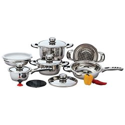 New 12Pc 9 Ply Heavy Gauge Stainless Steel Waterless Cookware Set Pots Pans Lids