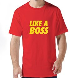 Hot Like Boss Mens T-Shirt X-Small Red