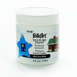 Folkart 2860 4-Ounce Texture Paint, White