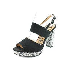 Kelsi Dagger Bobby Jo Womens Size 10 Black Peep Toe Suede Platforms Heels Shoes