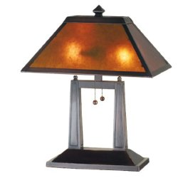 Meyda - 24216 - 20 Inch H Mica Mission Oblong Desk Lamp Table Lamps