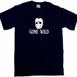 Jason Hockey Mask Logo Gone Wild Men'S Tee Shirt Large-Black