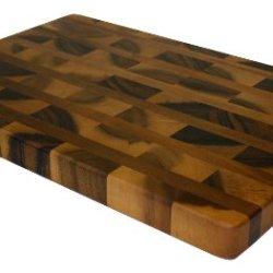 "Mountain Woods 19"" X 13"" Acacia Hardwood End Grain Cutting Board W/ Juice Groove"