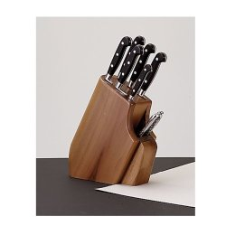 Cutting Martinuzzo Fuego 7 Piece Maniago Forged Knife Set In Walnut Wood Block