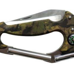 Outdoor Carabiner Clip Multi-Tool Pocket Knife - Camouflage