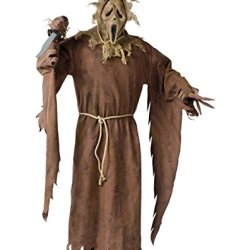 Mens Ghostface Scarecrow Halloween Costume Xl 40-42 Adult Creepy Scary Mask