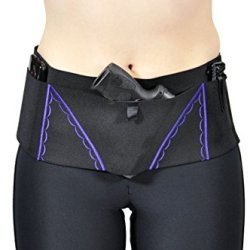 """Can Can Concealment Big Shebang!® Hip Hugger - Women'S Concealed Carry Holster (Purple, Large  39""""-42"""")"""