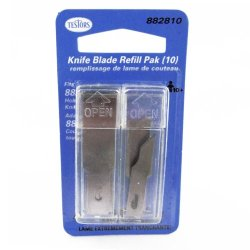 Testors 10Pc Knife Blade Refill Pack - Replacement Blades For 8828 Hobby Knife